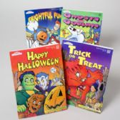 120 Units of Coloring Book Halloween 2 Asst 96 Pages In Floor Display Made In Usa
