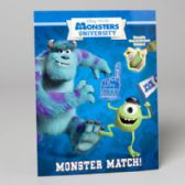 96 Units of Sticker Book Disney Monsters Uni Match Reusable - Activity Books