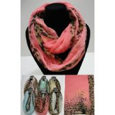 24 Units of Extra-Wide Light Weight Infinity Scarf [Leopard Print] - Womens Fashion Scarves