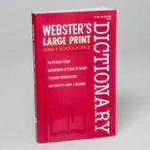 24 Units of Webster's Large Print Dictionary 256 Pg