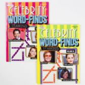 24 Units of Word Find Book Celebrities 96pg In 24pc Counter Display
