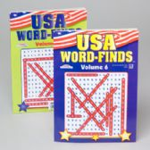 96 Units of Word Find Usa 96pg 2 Title In 24pc Counter Display Made In Usa