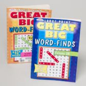 120 Units of Word Finds Great Big 96 Pages 2 Asstd In 120 Ct Floor Display
