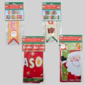 48 Units of Banner Christmas Single 3ft Foil Or 2pk 8ft Flag Style 4ast Gov Xmas Pbh - Christmas Novelties