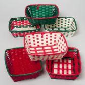 96 Units of Basket Woven Christmas - Christmas Novelties