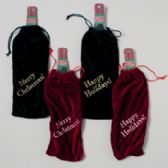 96 Units of Bottle Bag Velvet - Christmas Gift Bags and Boxes