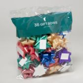 96 Units of Bows Christmas 36 Peel N Stick - Christmas Decorations