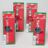 144 Units of Bubble Watch Christmas 4asst Styles 9.5 X 2.6in Gov Log Blister Card - Christmas Novelties