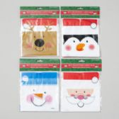 144 Units of Candy Bag W/drawstring - Christmas Gift Bags and Boxes