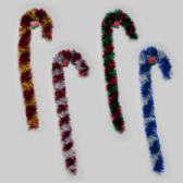 96 Units of Candy Cane Tinsel Decor - Christmas Decorations