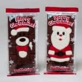 90 Units of Candy Doublecrisp Bars 4oz W/ Inlaid Designs 2asst In Bag - Christmas Gift Bags and Boxes