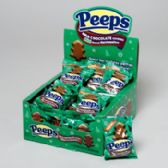 96 Units of Candy Peeps Milk Choc Covered Marshmallow Mint Flavored Trees - Christmas Novelties