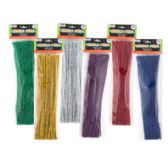 144 Units of Chenille Stems Metallic 40 Pack - Craft Stems