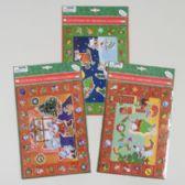 144 Units of Christmas Countdown Calendar Laser Sticker Playsets - Christmas Novelties