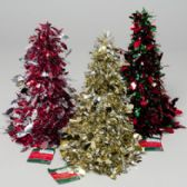 96 Units of Christmas Tree Tinsel Cone Decor Dot Or Loop 5 Colors Gov Xmas Hangtag - Christmas Decorations