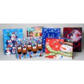 72 Units of Gift Bag Christmas Giant Paper 24x18x7 Vertical/horiz 6ast Designs - Christmas Gift Bags and Boxes