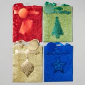 144 Units of Gift Bag Foil/glitter/hotstamp - Christmas Gift Bags and Boxes