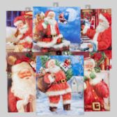 144 Units of Gift Bag Large Traditional Santa Theme - Christmas Gift Bags and Boxes