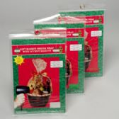 96 Units of Gift Basket Shrink Wrap Christms - Christmas Gift Bags and Boxes