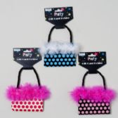 144 Units of Gift Card Holder W/marabou Feather - Christmas Gift Bags and Boxes