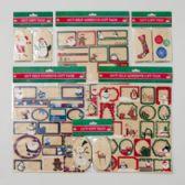 192 Units of Gift Tag Kraft Theme - Christmas Gift Bags and Boxes