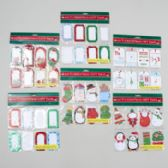 144 Units of Gift Tags Christmas 24ct Glitter/hotstamp Or W/ribbon - Christmas Gift Bags and Boxes