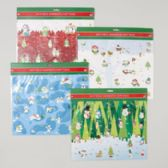 144 Units of Gift Tags Self-stick 40ct Diecut Polar/penguin/owl/snowman Theme Gov Christmas Polybag Header - Christmas Gift Bags and Boxes
