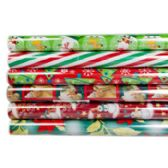 60 Units of Gift Wrap Christmas 30 Sq Ft 30 Inch X 12 Foot Ppd $3.99 On 1.5 Inch Core