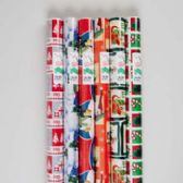48 Units of Gift Wrap Christmas 85 Sq Ft 1.5in Core Asst Designs Made In Usa - Christmas Gift Bags and Boxes