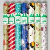 """120 Units of Giftwrap Xmas 24"""" X 20' 40 Sq Ft Rolls On 1.5"""" Core Ppd - Christmas Gift Bags and Boxes"""