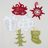 48 Units of Glitter 8in Ornament Die-cut - Christmas Ornament