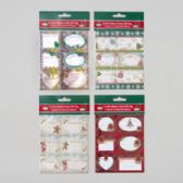 144 Units of Goodie Food Label Gift Tags - Christmas Gift Bags and Boxes