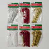 96 Units of Ornament Beaded Candy Canes 6pk - Christmas Ornament