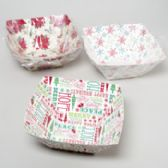 96 Units of Paper Party Square Bowl 3ast Christmas Patterns - Christmas Decorations