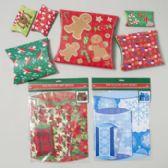 144 Units of Pillow Gift Box 6pk Christmas Prints - Christmas Gift Bags and Boxes