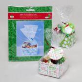 96 Units of Treat Box Set Christmas 6pk/3ast Box Base/cello Bag/ties & Tags - Christmas Gift Bags and Boxes