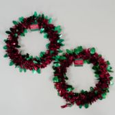 108 Units of Wreath Tinsel W/holly Icons - Christmas Decorations
