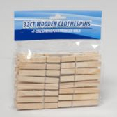 144 Units of 32 Count Wooden Clothespins - Clothes Pins