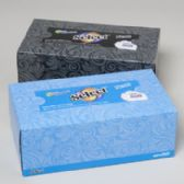108 Units of Facial Tissue 160 Ct White Select Flat Boxed 6 Colors Assorted In Case - Tissue Paper