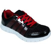 12 Units of Mens Running Sneakers In Black And Red - Men's Shoes