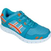 12 Units of Mens Running Sneakers In Teal and Orange - Men's Shoes