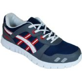 12 Units of Mens Running Sneakers Navy Gray And Red - Men's Shoes
