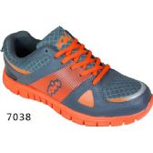 12 Units of Mens Running Sneakers Gray and Orange - Men's Shoes