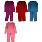 60 Units of Children Winter Pj Set Top And Bottom Assorted Colors - Girls Underwear and Pajamas