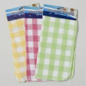 144 Units of Scrubber Dishcloth 2pk 12inch Square 3ast Checkerboarrd Colors