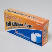 120 Units of Trash Bags 15 Ct - 13 Gal Tall Kitchen - White - Garbage & Storage Bags