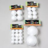 72 Units of 4asst Size Craft Foam Balls In Polybag W/header Craft Pbh - Craft Kits