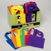 96 Units of Craft Tote Bag 3pk 6in 6colors 48sets In Cnter Display Ea Set In Sleeve - Craft Kits