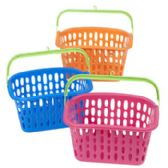 36 Units of Basket W/plastic Handle & Hook 3 Colors 10x7x5.5 In Pdq - Baskets