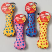 132 Units of Dog Toy Vinyl Bone With Squeaker - PET TOYS